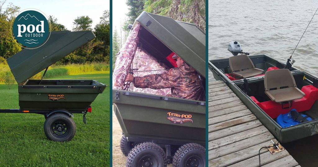Tetra-Pod Jon Boat and Utility Trailer