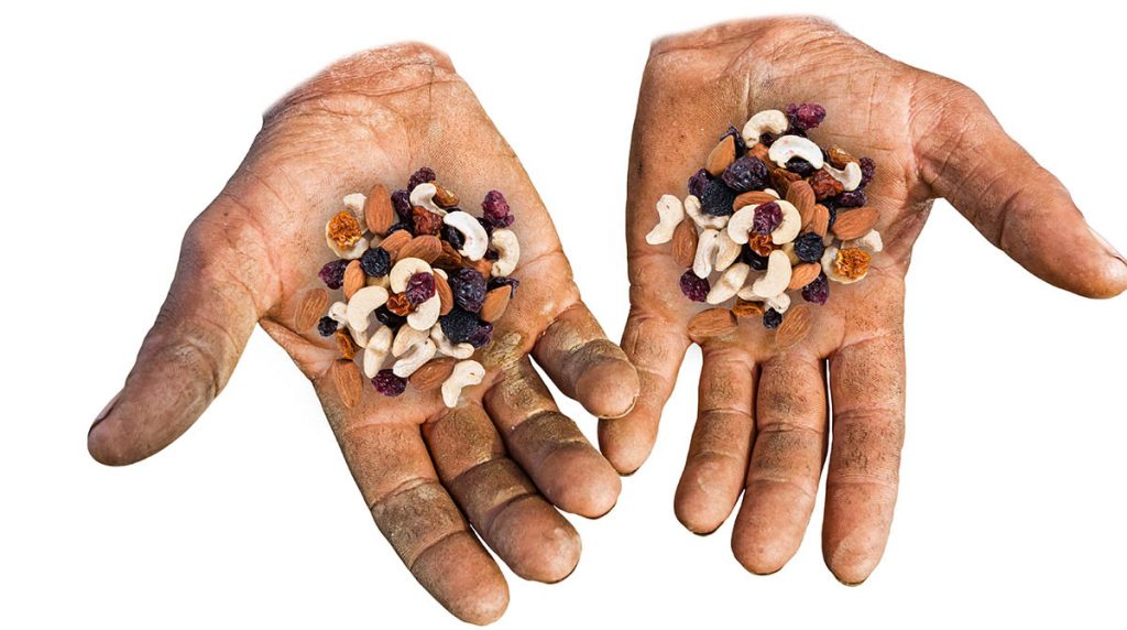 Trail Mix Cradled in Sweaty, Bruised Hands