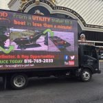 Tetra-Pod Driving Advertisement on the Las Vegas Strip