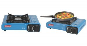 The COleman single burner butane camp stove is a great addition to any camping or road trip.