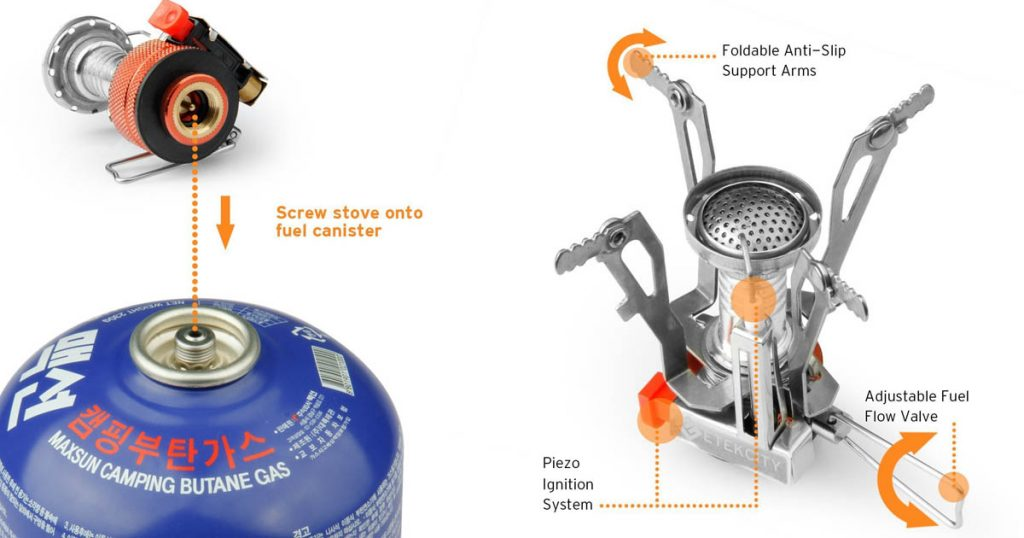 Etek Ultralight Backpacking stove