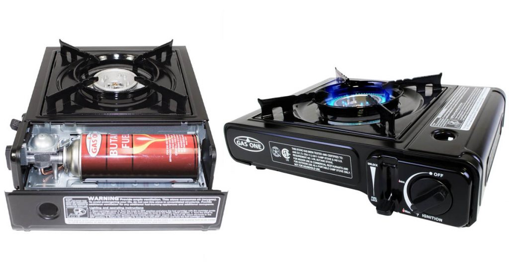 The Gas One 3000 is a durable camp stove that is perfect for road trips and camping.