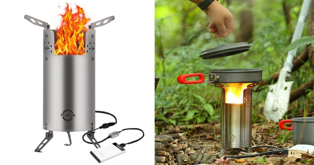 The Paleda wood burning camp stove is perfect for those situations when you don't want to mess with fuel canisters.